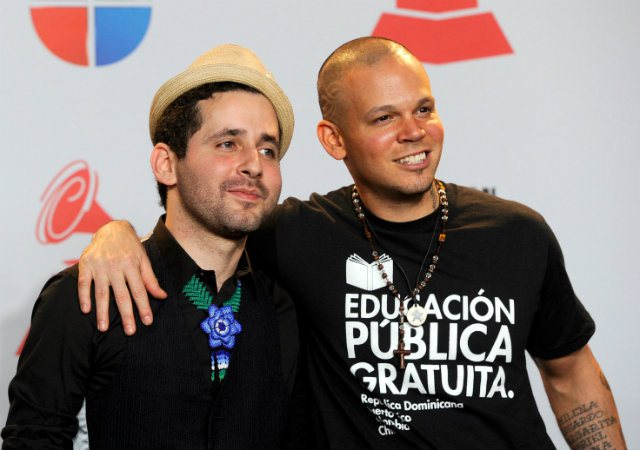 Puerto Rican duo, Calle 13 dominates Latin Grammy nominations. (Photo by Ethan Miller/Getty Images)