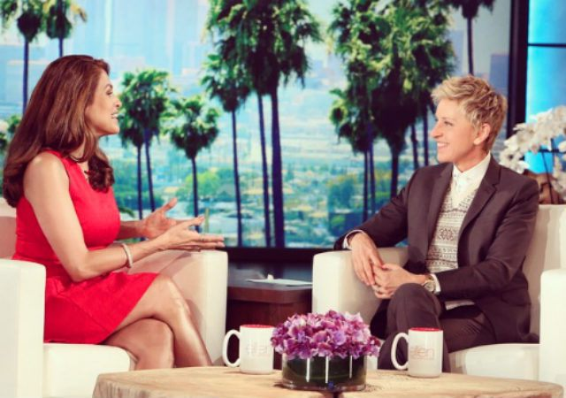 Eva Mendes dishes on why she kept her pregnancy secret. ( Ellen's Instagram)