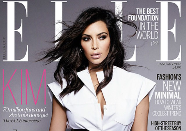 Kim Kardashian reveals her former battle with body confidence in Elle magazine. (Elle Magazine)