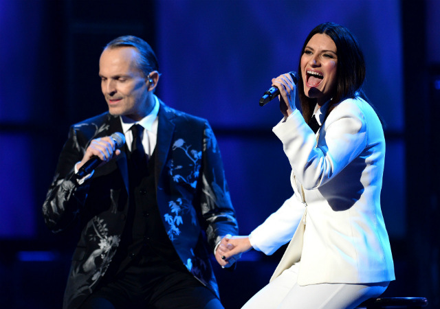 "Laura Pausini premieres worldwide a special edition of her ""20 Greatest Hits."" (Photo by Ethan Miller/Getty Images for LARAS)"
