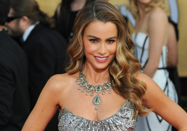 Sofia Vergara shares her beauty secrets, and she's not afraid to shove her hair in anyone's face! (Shutterstock)